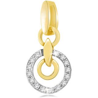 Sparkles 0.07 Ct. Stylish Circle Gold Pendant