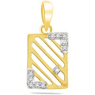 Sparkles 0.04 Ct. Stylish Gold Pendant