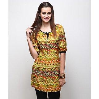 Yepme Multicolor Polyester Printed Casual Kurti