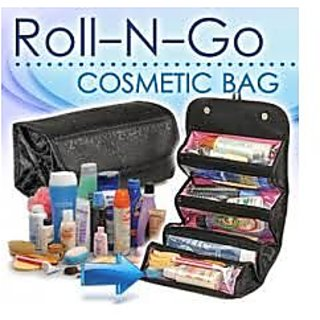 Pack of two - Roll N Go Black Cosmetic Bag - For Every Women