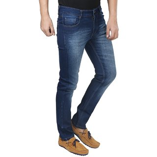 Cotton Stretchable Dark Blue Jeans