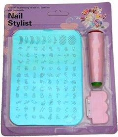 Nail Art Stamping Kit Decoration Jumbo Image Plate Gift Girl Woman (WA23XY13)