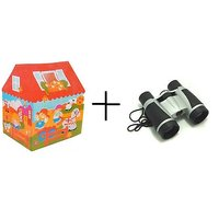 Combo Of Tent House + Binoculars For Kids