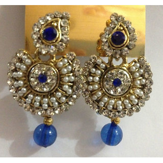 Latest Indian Bollywood Designer Pearl Earrings 2 Pc Gift Set