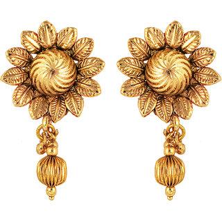 Om Jewells Traditional Ethnic Sun Flower Earrings for Women ER1000020