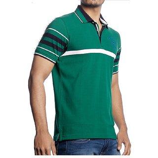 Lee Green Polo Neck Half Sleeve Mens T-Shirt