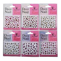Nail Art Stickers Pack Of 24. 3D Print