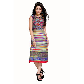 The Ethnic Chic Black, Beige, Purple  Red Color Cotton Kurti