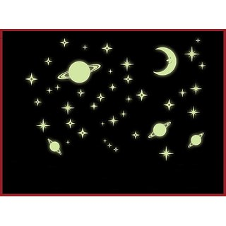 Pvc Galaxy Of Stars Radium/Glow In The Dark Wall Decal Part 41