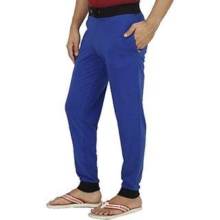 Gautam Fabrics Mens Blue Track Pants