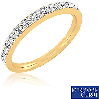 Certified 0.45ct Natural Diamond Stuuded Ring 14K Hallmarked Gold Ring LR-0168G