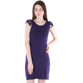 c916337e066d Buy Vvoguish Blue Plain Backless Dress For Women Online - Get 74% Off
