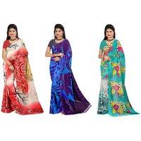 Casa Joya Multicolor Georgette Printed Saree With Blouse