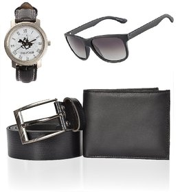 iLiv Multicolor UV Protection Wayfarer Unisex Sunglasses - Black Wallet , Belt , Wayfarer  Club Watch