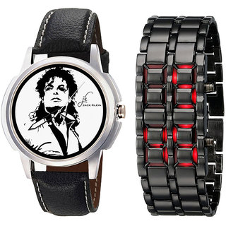 Combo of Stylish Watch + Metal led Watch
