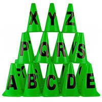Training Alphabet Cone Markers 9 Inch (A-Z) Pack of 26