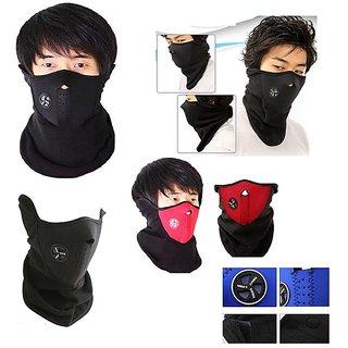 Bike Face Mask /Neoprene Anti Pollution Mask Half Face for Summer - Black