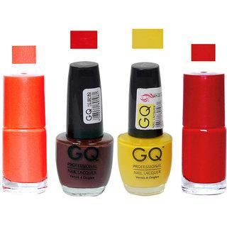 New GQ + FB Muliticolor Nail Polish ComboGQ 125 127