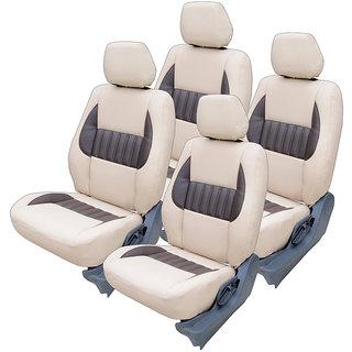 Craze Etios Leatherite BeigeCoffee Wave6 Steering Cover