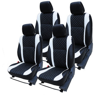 Craze i10 Leatherite BlackWhite FullSpider Steering Cover