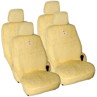 Craze IndicaVista Leatherite Beige Towel2 Steering Cover
