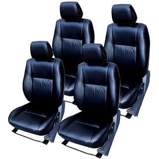 Craze Indica Leatherite Black Wave15 Steering Cover