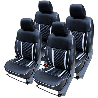 Craze IndicaVista Leatherite BlackSilver HalfSpider Steering Cover