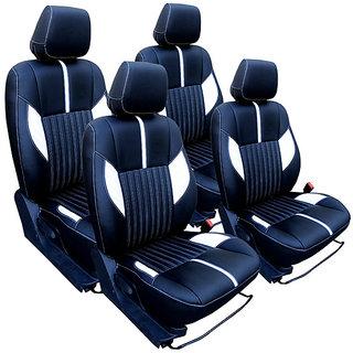 Craze Stingray Leatherite BlackWhite Wave19 Steering Cover