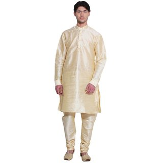 Arose Fashion Cream Silk Kurta Pajama Set