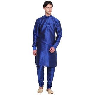 Arose Fashion Blue Silk Kurta Pajama Set