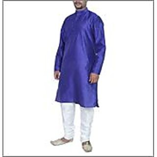 Arose Fashion  Blue Silk Kurta Pajama Set