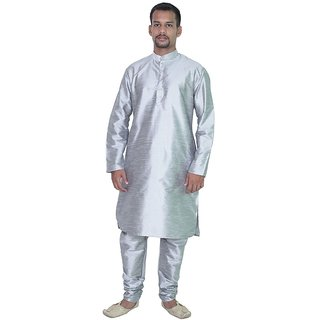 Arose Fashion Grey Silk Kurta Pajama Set