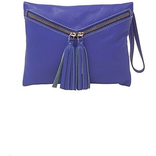 Justanned Women Casual Blue Genuine Leather  ClutchJTWB 020-1