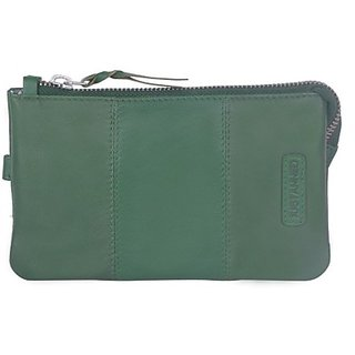 Justanned Women Casual Green Genuine Leather  ClutchJTWW044-5