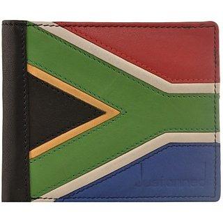 Justanned Men Multicolor Genuine Leather Wallet         (2 Card Slots)JTMW187-8