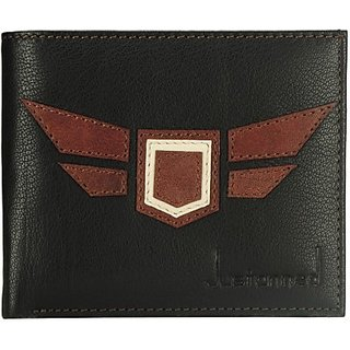 Justanned Men Multicolor Genuine Leather Wallet         (5 Card Slots)MW220-8