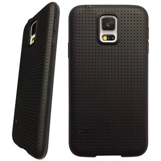 Snaptic Soft Black Dotted TPU Back Cover for LeTV Le 1S