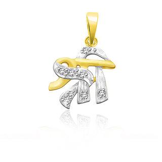 Sparkles 0.03 Ct. 925 Sterling Silver & Real Diamonds Religious Shree Pendant