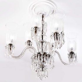 Crystal Clear Elegant Modern Ceiling Lamp