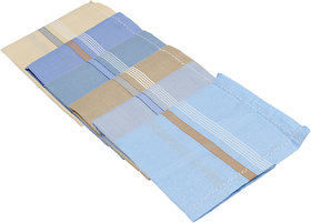 Gumber Pack of 12 Multicolored Solid Handkerchiefs