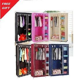 Double door Foldable Wardrobe Almirah Cupboard