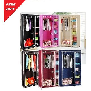 Double door Foldable Wardrobe Almirah Cupboard
