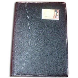 Elegant Exellent Series Rexine Executive Bag With Sheet Protector(Set Of 1, Black)