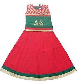 Nakshatra Green  Red Lehenga (NC 132) (Size 22)