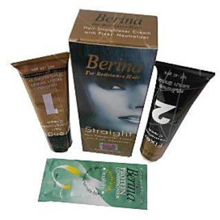 Berina For resistance Hair Straight Straightener Cream With Fixer Neutralizer