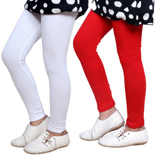 IndiWeaves Girls Super Soft Cotton Leggings Combo 2