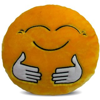 Deals India Yellow Hugging Smiley Cushion - 20 cm(smileyE20cm)