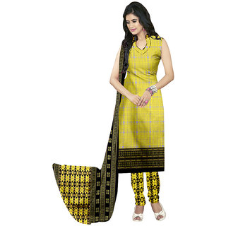 The Ethnic Chic Light Yellow Colored Butter Crepe Suit