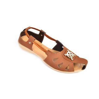 Fashbeat Women Tan Color Sandals