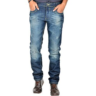 Indigen Slim Fit Mens Dark Blue Jeans